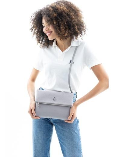 Benetton Messenger / Askılı Çanta Gri